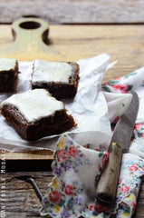 Gingerbread Snack Cake with Earl Grey Glaze