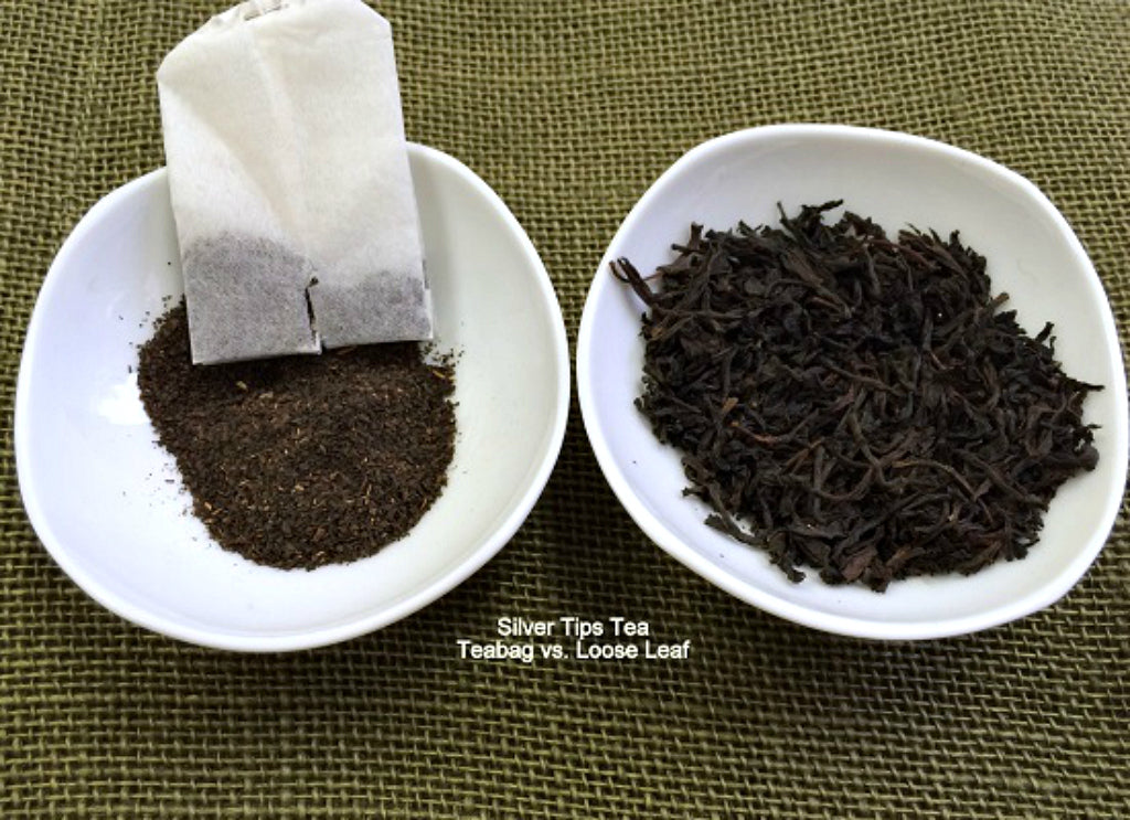 Silver Tips Tea Loose Leaf Tea vs. Tea bag