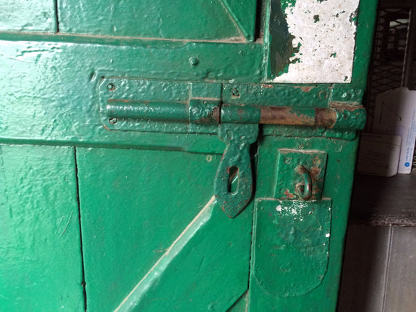 A Historic, 150 year old door at the Makaibari Tea Factory
