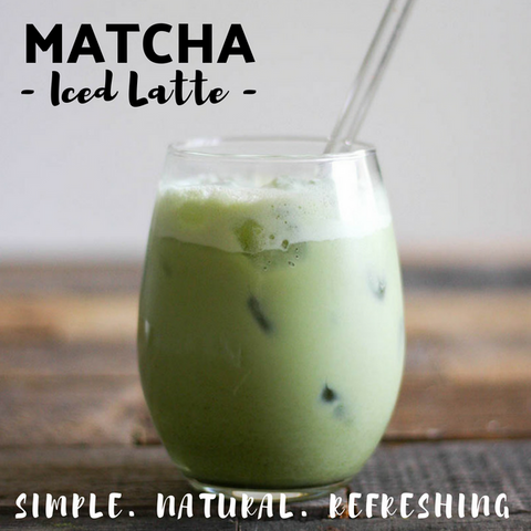 Matcha Green Tea Powder Iced Latte - Silver Tips Tea Online Tea Shop