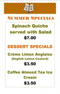 SUMMER MENU CARD 2