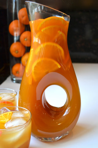 Silver Tips Tea Pitcher of Mango Orange Sparkling Iced Tea