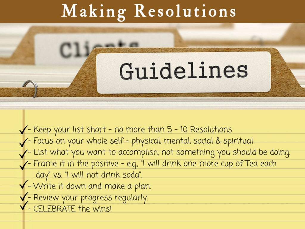 New Year's Resolution Guidelines - Join the Tea Resolution