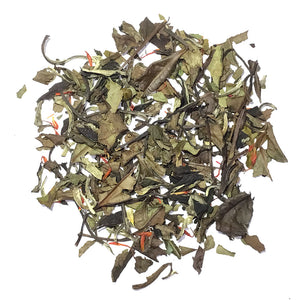White Sparkling Berry - Pai Mu Tan China White tea with safflowers, with champagne and raspberry flavors - Silver Tips Tea's Loose Leaf Tea