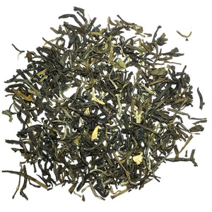 Jasmine Basic - China green scented with jasmine blooms - Silver Tips Tea's Loose Leaf Tea