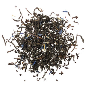Earl Grey Creme - Elegant long leaf black tea with blue flowers, bergamot and a hint of vanilla cream flavoring - Silver Tips Tea's Loose Leaf Tea