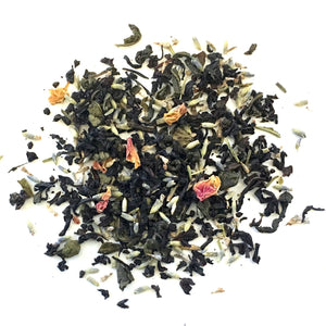 Daily Fusion - Black tea and Green tea with lavender, rose petals and a hint of vanilla - Silver Tips Tea's Loose Leaf Tea