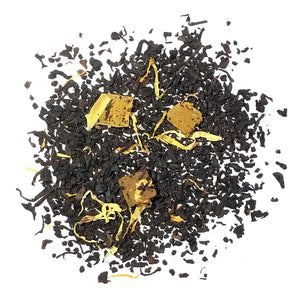 BLACK TEA WITH MANGO FLAVOR, PIECES AND FLOWERS