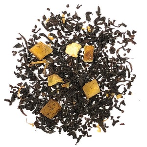 Tango Squeeze - A fruity blend of Black tea with Mango and the sweet and tart notes of Orange flavor and orange peel - Silver Tips Tea's Loose Leaf Tea