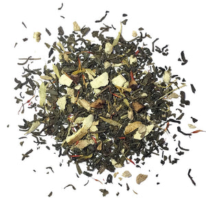 Zingy Tang - Organic/Fair Trade Green tea with ginger, orange and peach - Silver Tips Tea's Organic Loose Leaf Tea