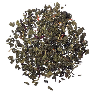 Ruby Green - Green tea with hibiscus, berries and lemon - Silver Tips Tea's Loose Leaf Tea