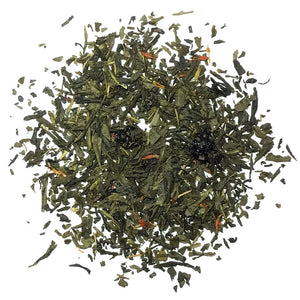 Sakura Sencha - Refreshing, naturally sweet flavored tea blended with cherry flavor & safflowers - Silver Tips Tea's Loose Leaf Tea
