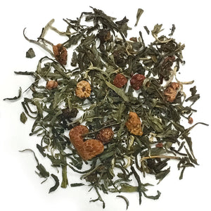 Sweet Orchid - Sencha green blended with orchids and strawberries - a burst of fragrance and natural sweetness - Silver Tips Tea's Loose Leaf Tea