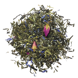 Secret Garden - Sencha, Jasmine, Lavender, Mint, flowers and peach/chocolate flavoring - Silver Tips Tea's Loose Leaf Tea