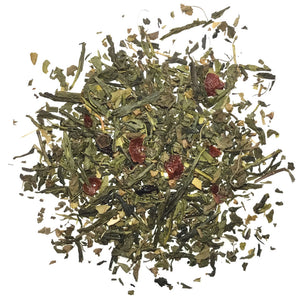 Strawberry Sencha - Green Tea with Strawberries, Tulsi, and Peppermint - Silver Tips Tea's Loose Leaf Tea