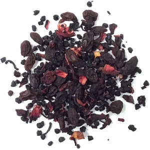 Hawaiian Berry - Fruit Tisane with Sultanas, hibiscus, cranberries, elderberries, blackcurrants, blackberries and flavoring - Silver Tips Tea's Loose Leaf Tea