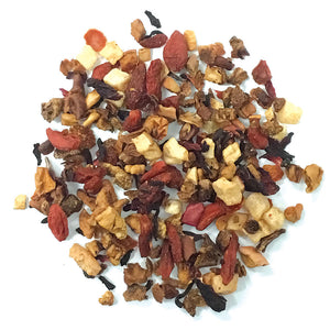 Wolfberry Melon - A pleasing, not-too-sweet Fruit tisane blend of gojiberry superfruit, pear, sweetened honeydew melon, apple, hibiscus, rosehips & flavoring - Silver Tips Tea's Loose Leaf Tea