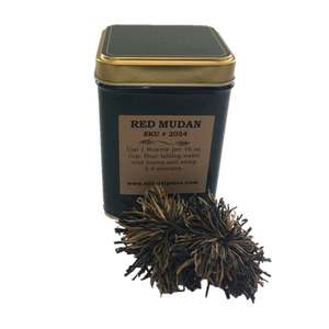 Black Peony Rosette (Red Mudan) - China Black Tea for Sale - Silver Tips Tea Online Tea Shop