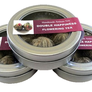 Double Happiness Flowering Tea - Silver Tips Tea's Loose Leaf Tea - 3