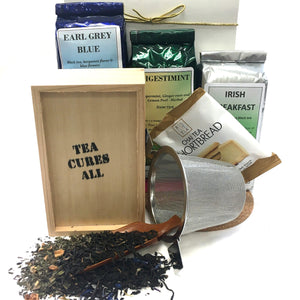 CHESTLET, THREE TEAS, INFUSER BASKET AND SCOOP