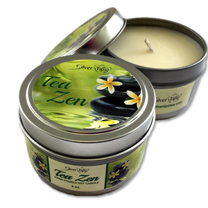 Tea Zen Candle - Adorable Red Currant, Lemon and Bergamot Scented Candle - Silver Tips Tea's Gifts