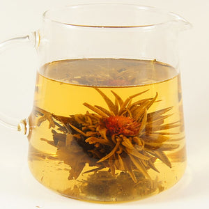 Jasmine Globe in mug - a pink globe amaranth infused with jasmine - Silver Tips Tea's Loose Leaf Tea - 1
