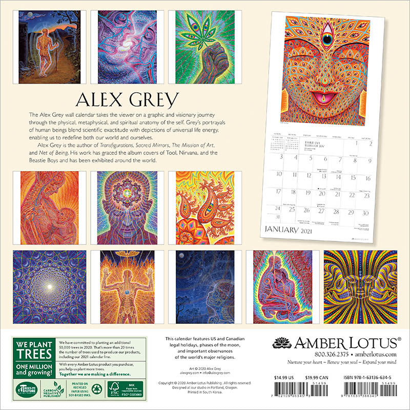 Alex Grey 2021 Wall Calendar