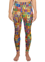 Complementary Planned Randomness Active Leggings