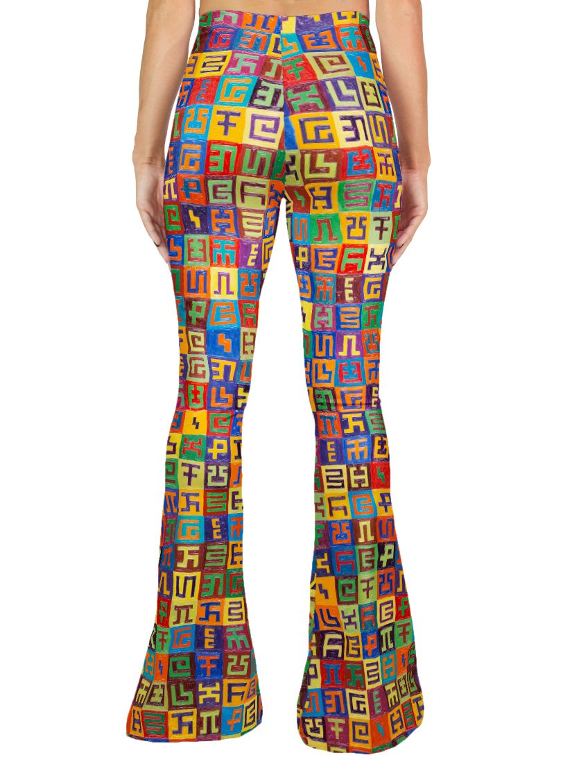 Complementary Planned Randomness Bell Leggings