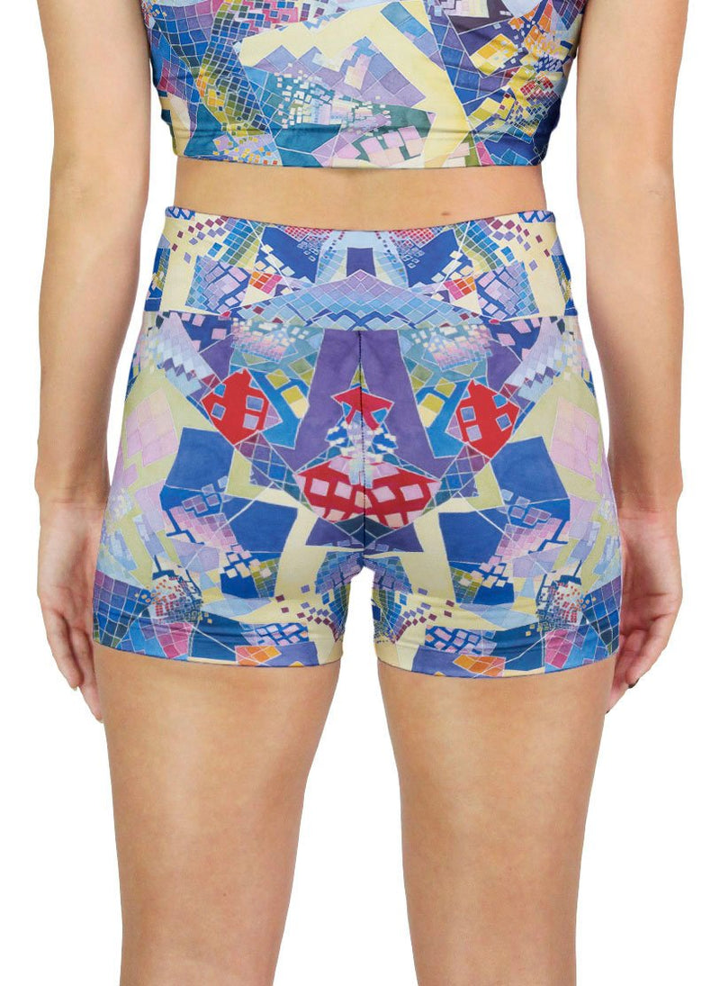 Blue Chaos Swatch Active Shorts