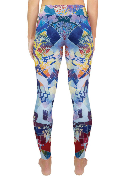 Blue Chaos Swatch Active Leggings
