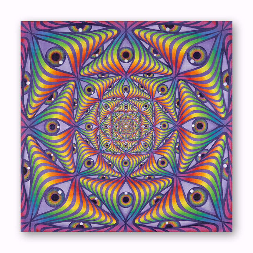 Rainbow Eye Ripple - Canvas Print