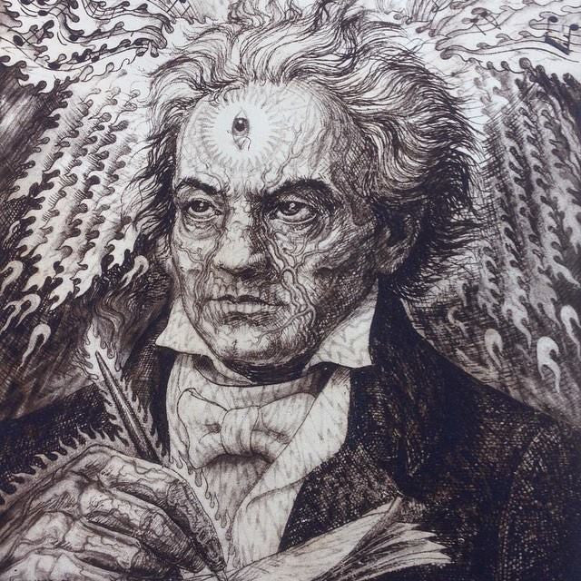 Beethoven - Etching