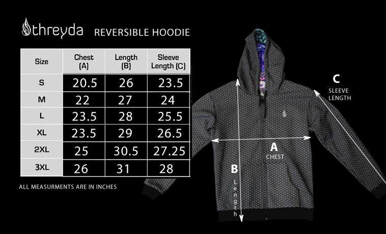 Bardo Being - Reversible Zip-Up Hoodie