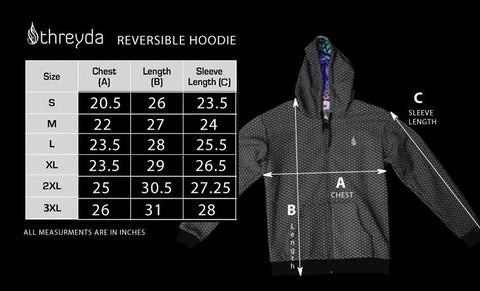 Realms of the Unpronounceable - Reversible Zip-Up Hoodie
