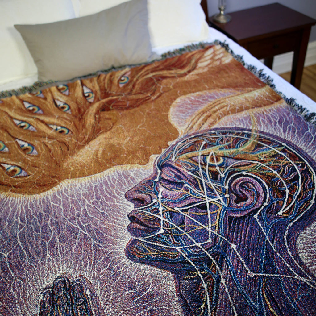 Kiss of the Muse - Art Blanket