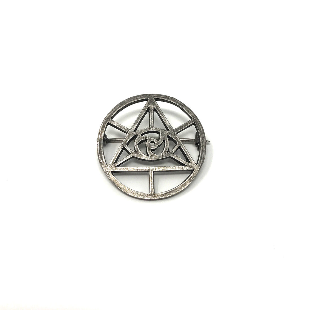 CoSM Eye of Spirit Pin - Sterling Silver