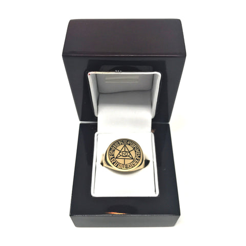Limited Edition Gold Mystic Eye Signet Ring