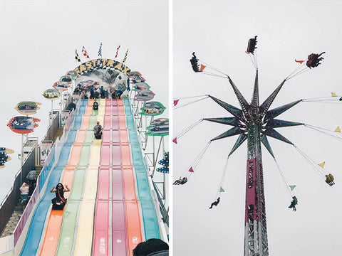 del mar fair, fair rides, midway games, slide, swing ride, county fair