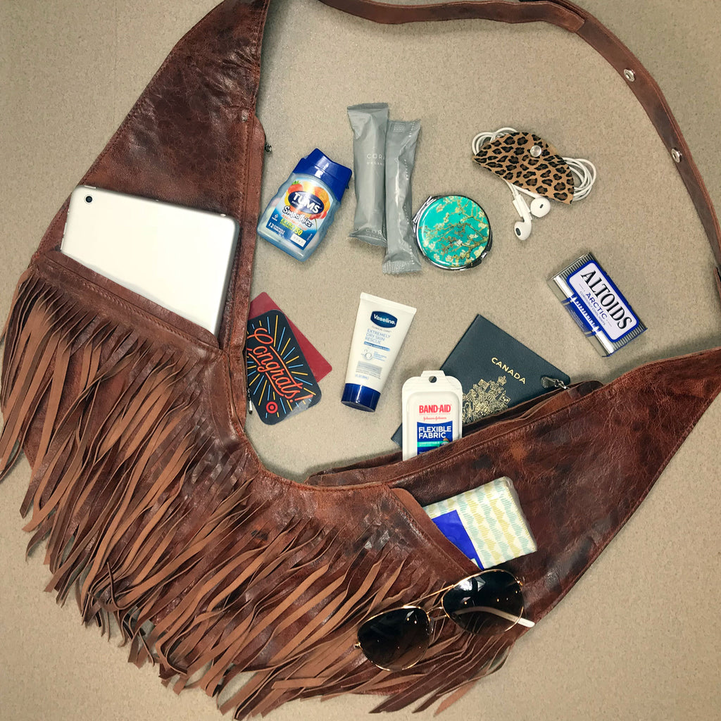 PRE-ORDER: Calico Leather Extra Full Fringe Sash Bag