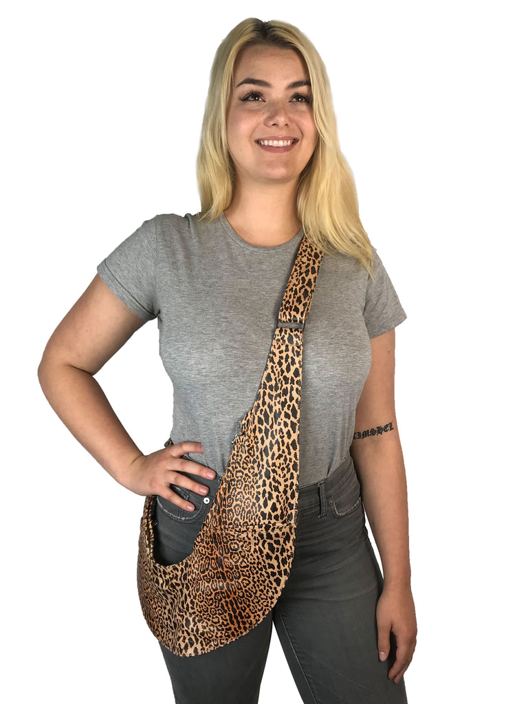 Leopard Leather Classic Sash Bag