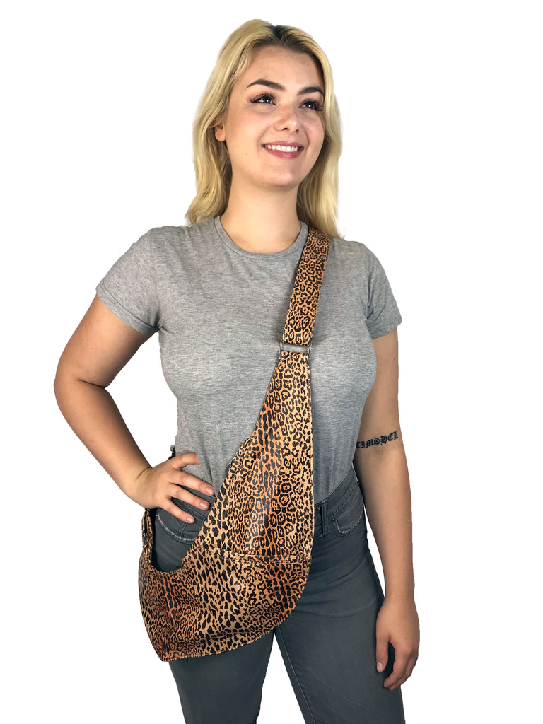 Leopard Leather Extra Sash Bag