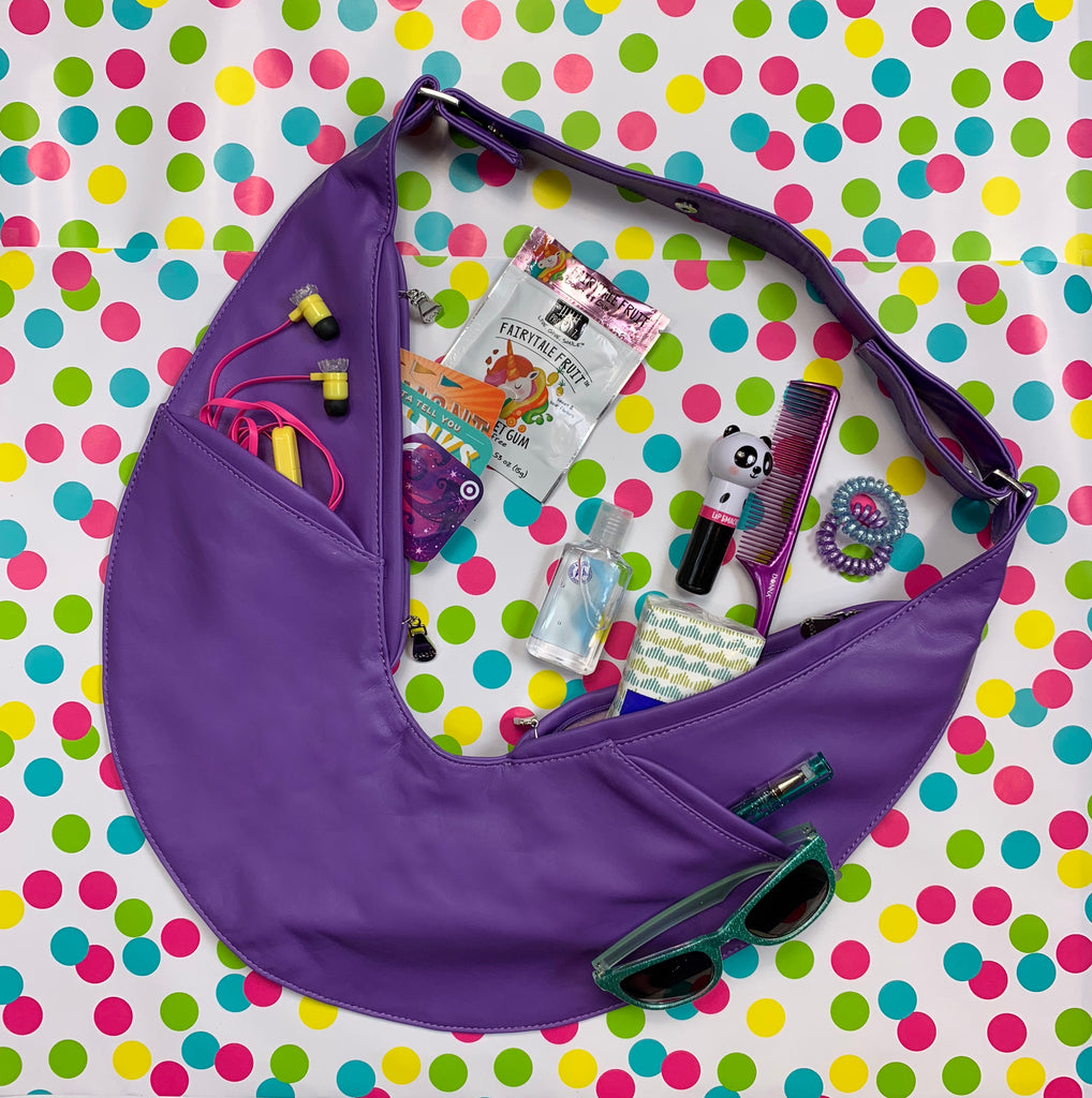 Junior Purple Classic Faux Sash Bag