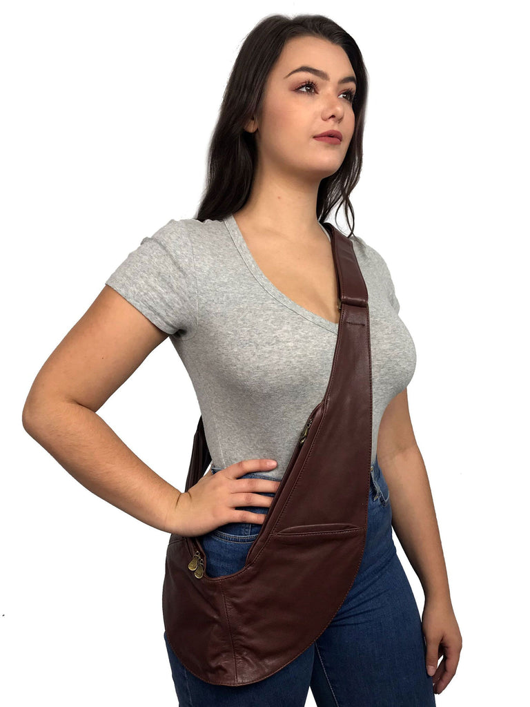 Brown Classic Leather Sash Bag