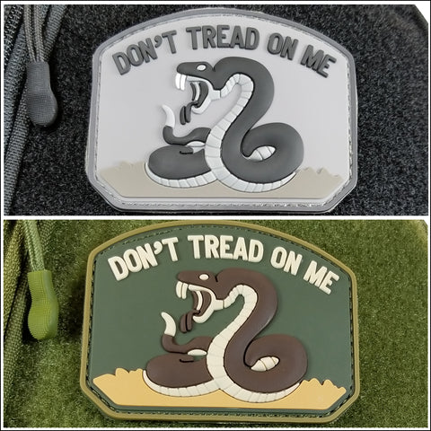 TactiCool - Morale Patch - Don't Tread On Me PVC Patch - 2018 - gift - veteran - emt - army - policeman - military - firefighter - molle - navy - marines