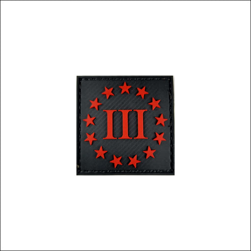 TactiCool - III Percenter PVC Patch - 2018 - tactical - military - police - veteran - molle