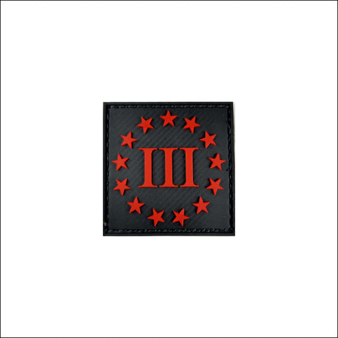 TactiCool - Morale Patch - III Percenter PVC Patch - 2018 - gift - veteran - emt - army - policeman - military - firefighter - molle - navy - marines