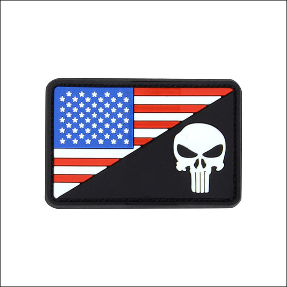 TactiCool - Flag and Punisher PVC Patch - TactiCool - 2018 - tactical - bamf