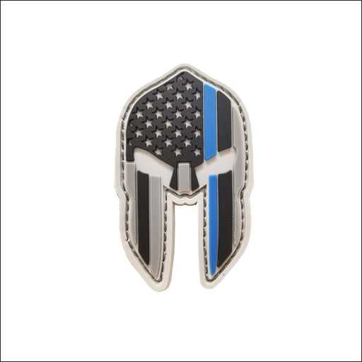 TactiCool - Spartan Thin Blue Line PVC Patch - 2018 - tactical - military - police - veteran - molle