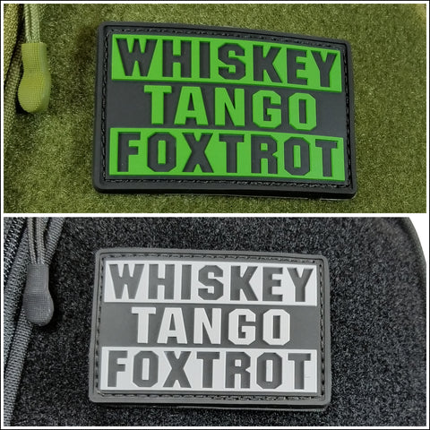 TactiCool - Morale Patch - Whiskey Tango Foxtrot Patch - 2018 - gift - veteran - emt - ems - policeman - military - firefighter - molle